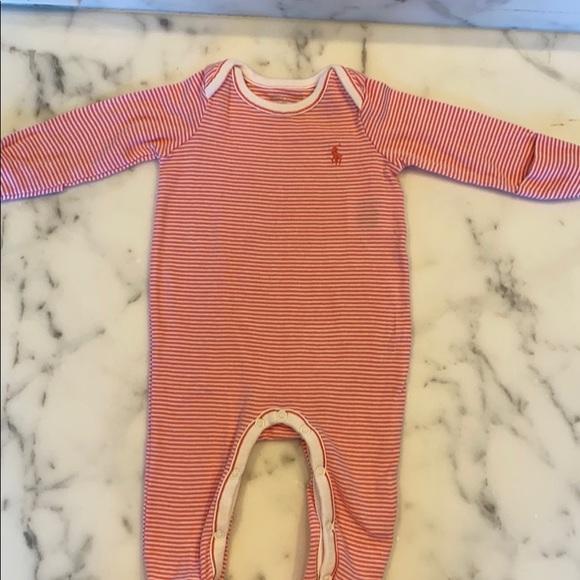 Pink Ralph Lauren Baby onesie